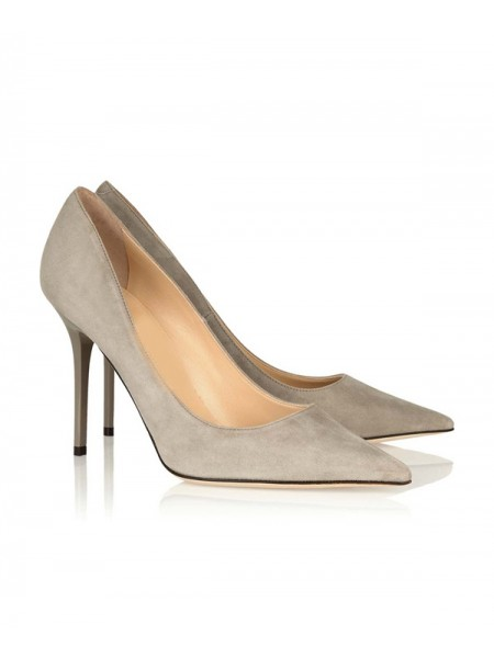 Stilettohak voor dames Suede Closed Toe Office Hoge hakken